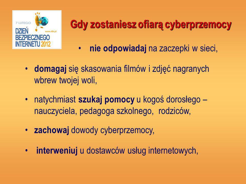 Gdy zostaniesz ofiarą cyberprzemocy