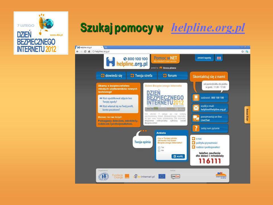 Szukaj pomocy w helpline.org.pl
