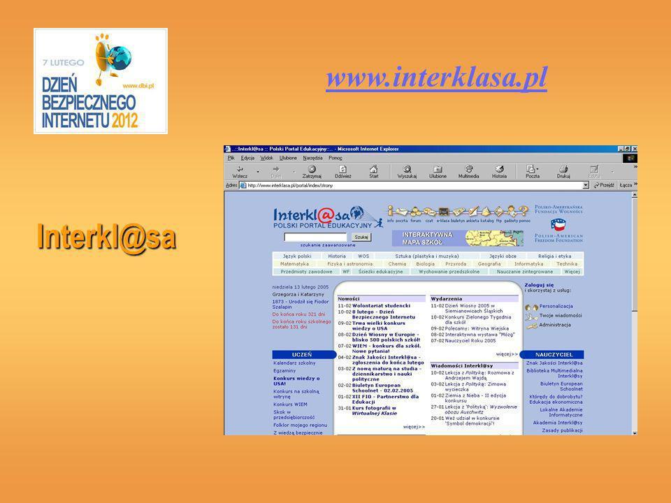 www.interklasa.pl Interkl@sa