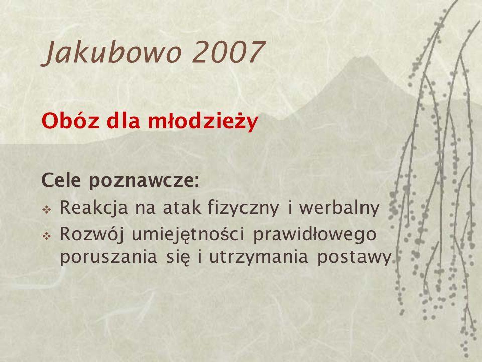 Jakubowo 2007 Obóz dla młodzieży Cele poznawcze: