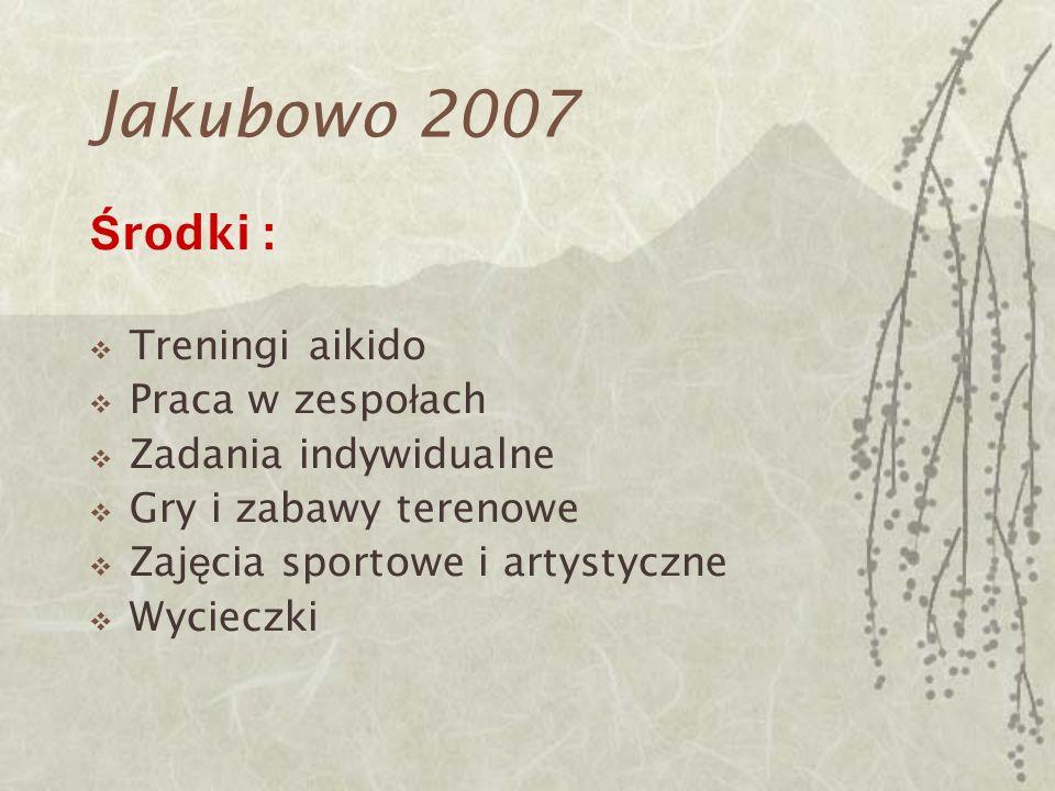 Jakubowo 2007 Środki : Treningi aikido Praca w zespołach