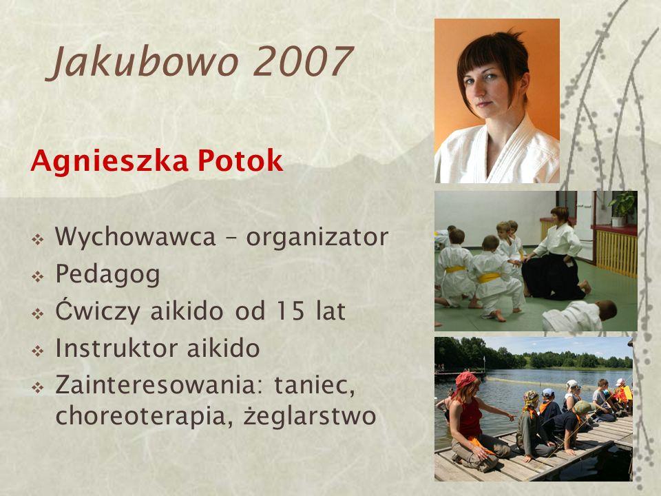 Jakubowo 2007 Agnieszka Potok Wychowawca – organizator Pedagog