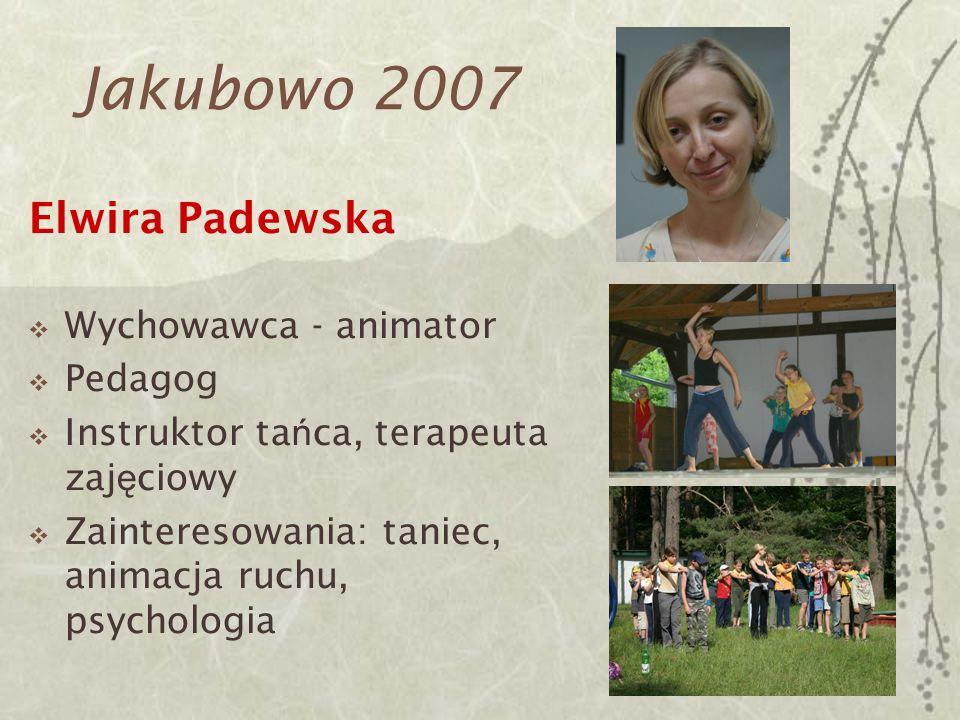 Jakubowo 2007 Elwira Padewska Wychowawca - animator Pedagog