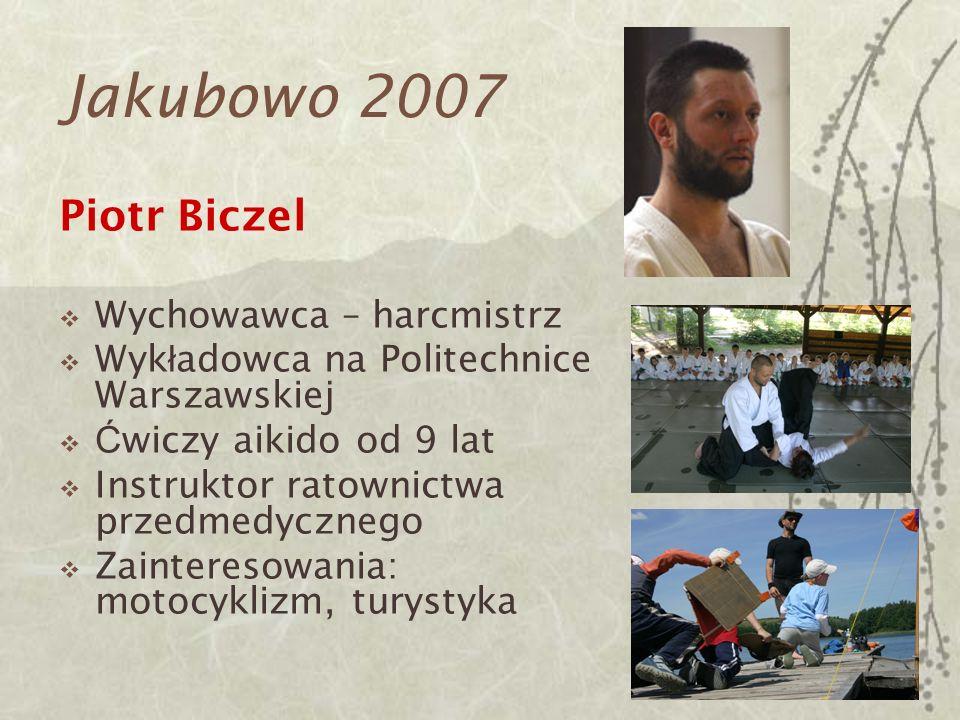 Jakubowo 2007 Piotr Biczel Wychowawca – harcmistrz