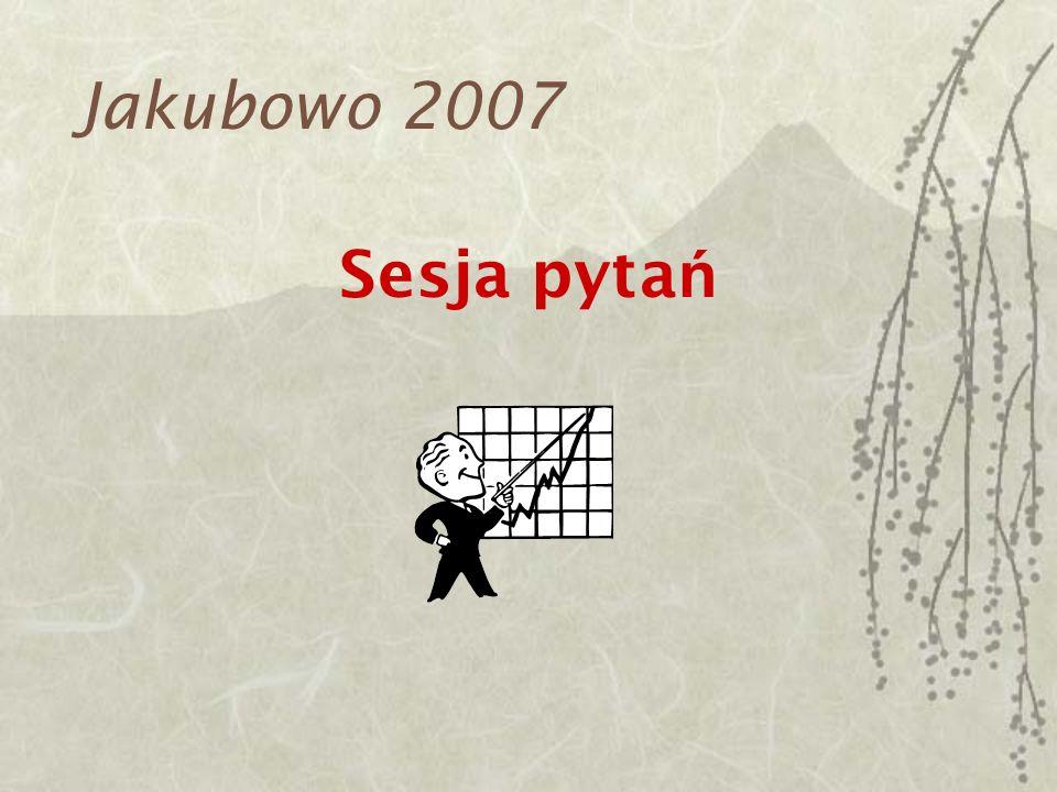 Jakubowo 2007 Sesja pytań