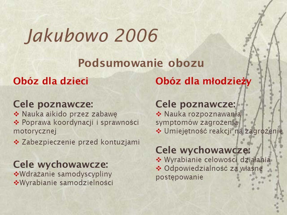 Jakubowo 2006 Podsumowanie obozu Obóz dla dzieci Cele poznawcze: