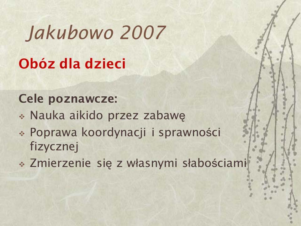 Jakubowo 2007 Obóz dla dzieci Cele poznawcze: