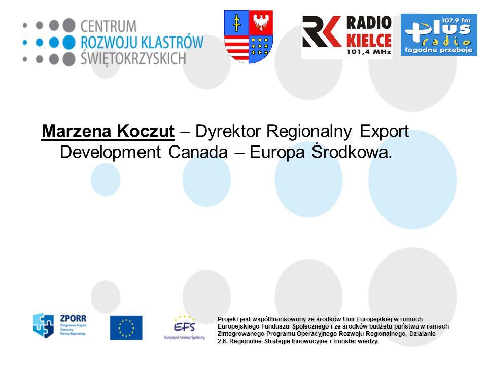 Marzena Koczut – Dyrektor Regionalny Export Development Canada – Europa Środkowa.