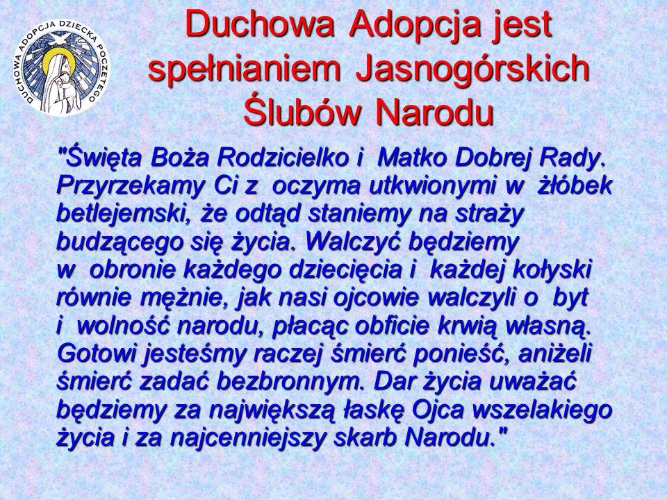 Duchowa Adopcja jest spełnianiem Jasnogórskich Ślubów Narodu