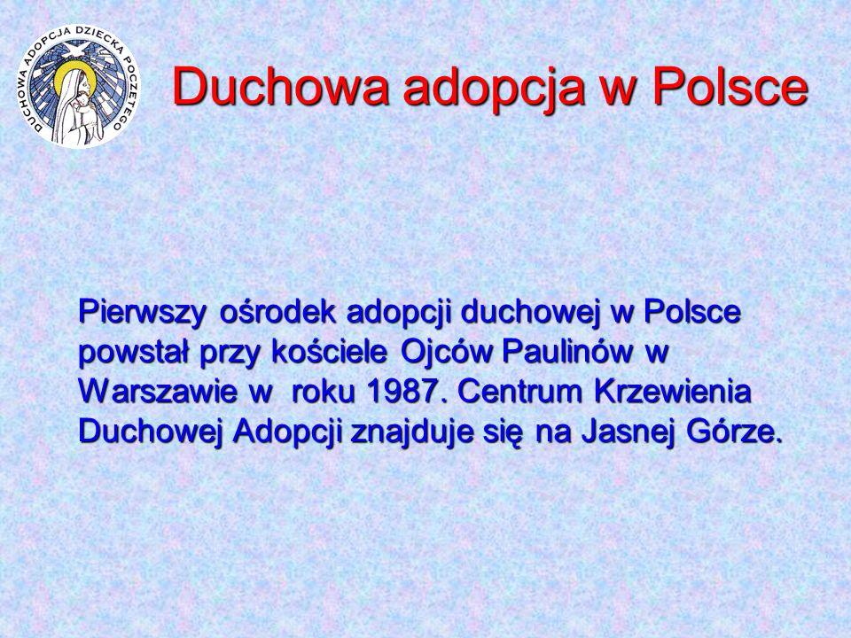 Duchowa adopcja w Polsce