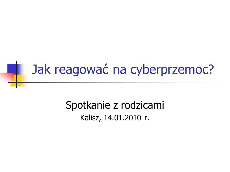 Jak reagować na cyberprzemoc