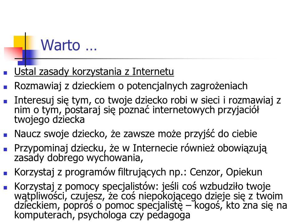 Warto … Ustal zasady korzystania z Internetu