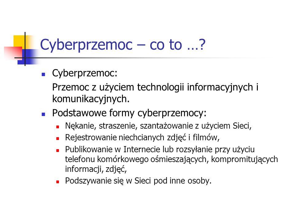 Cyberprzemoc – co to … Cyberprzemoc: