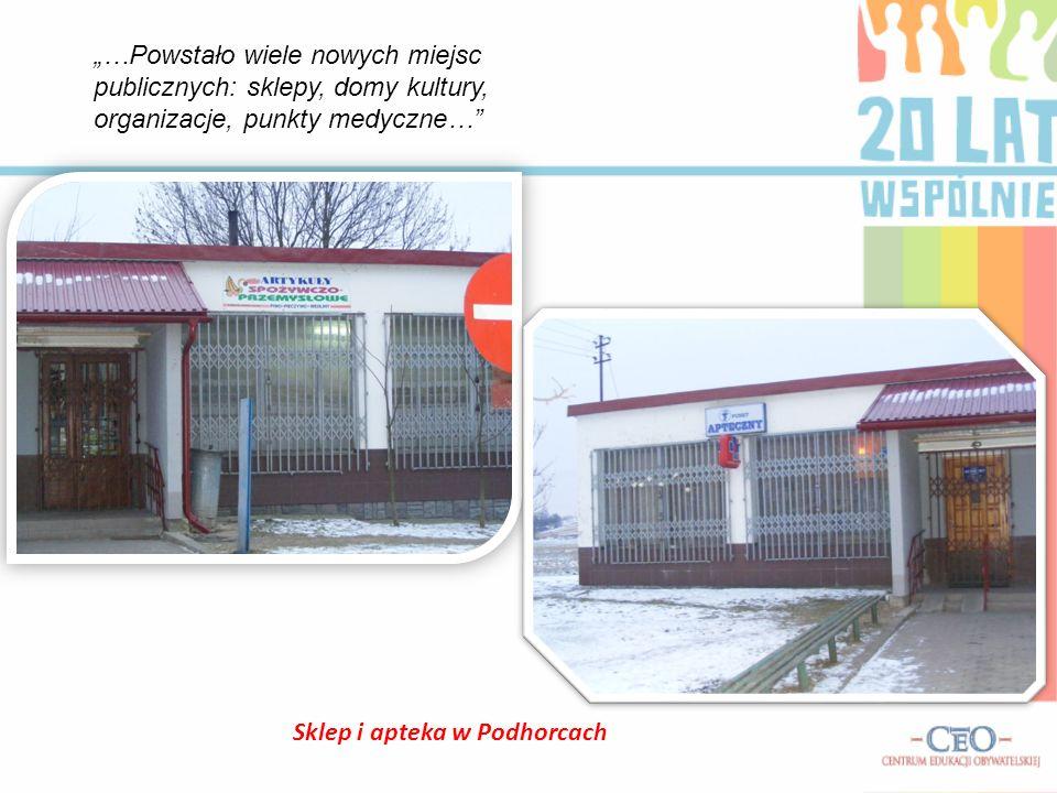 Sklep i apteka w Podhorcach