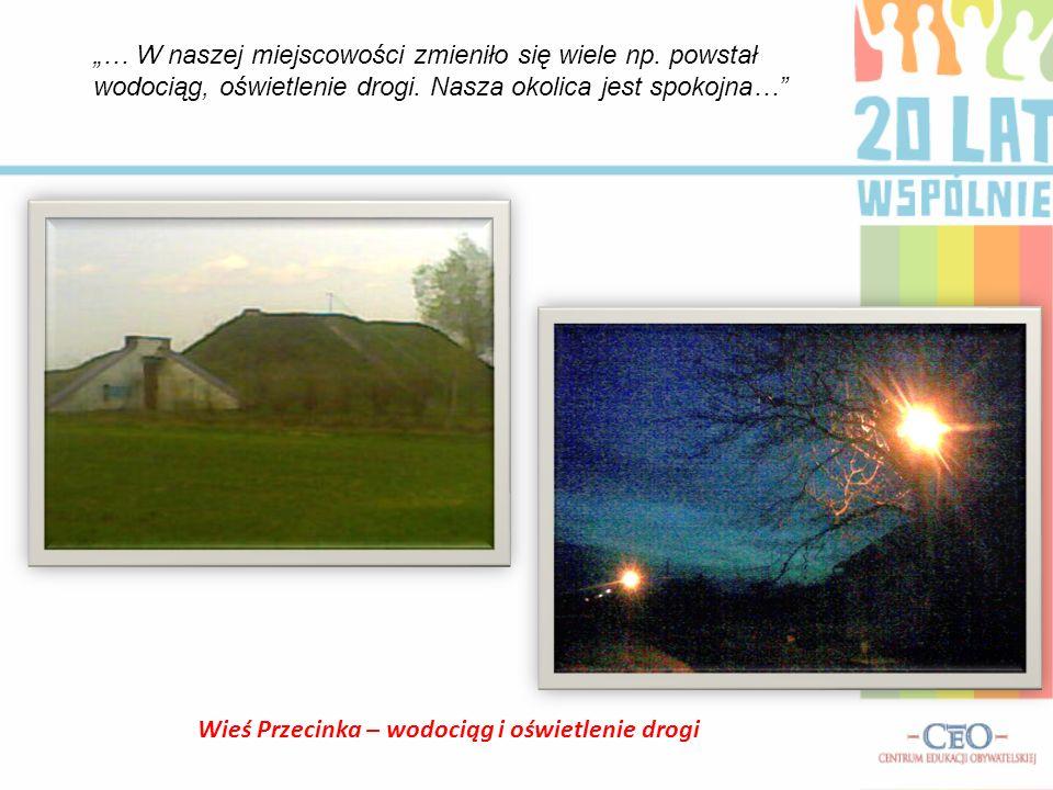 Wieś Przecinka – wodociąg i oświetlenie drogi