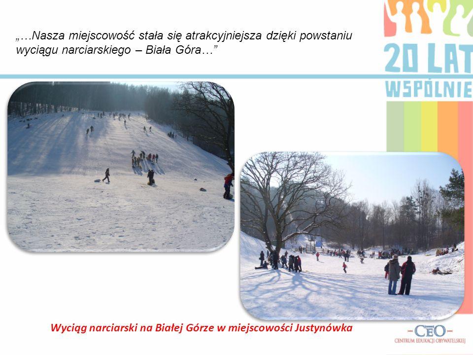 Wyciąg narciarski na Białej Górze w miejscowości Justynówka