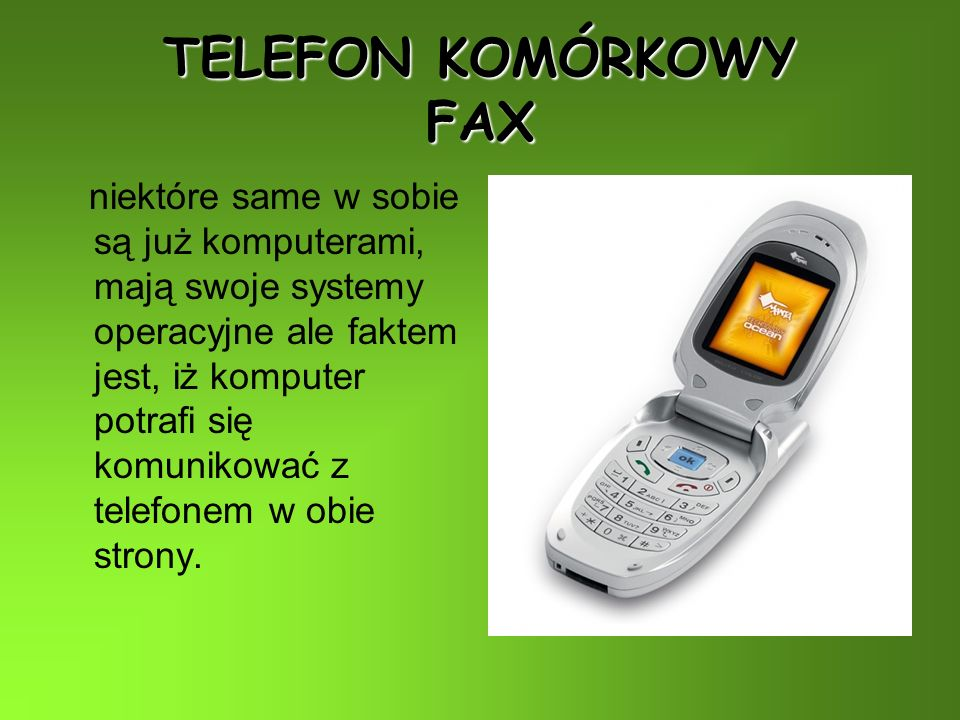 TELEFON KOMÓRKOWY FAX