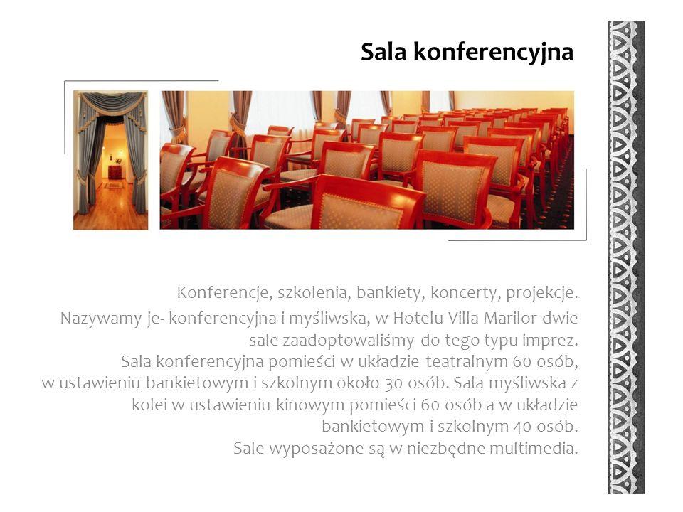 Sala konferencyjna Konferencje, szkolenia, bankiety, koncerty, projekcje.