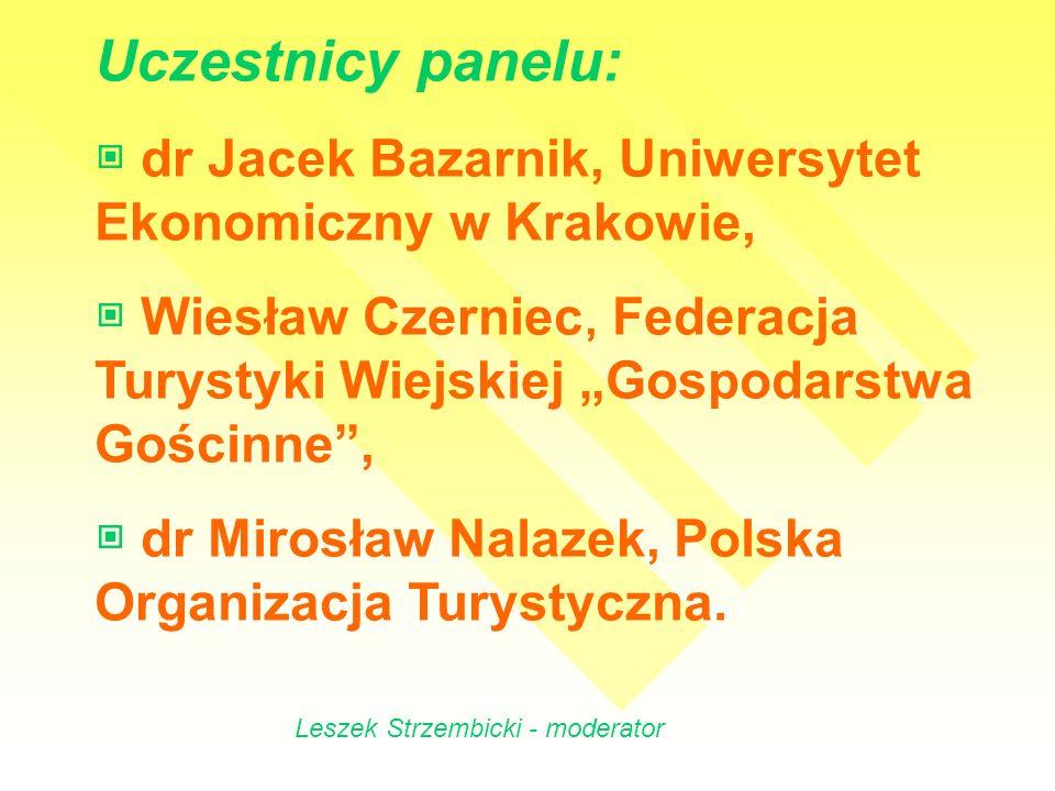 Uczestnicy panelu: ▣ dr Jacek Bazarnik, Uniwersytet Ekonomiczny w Krakowie,