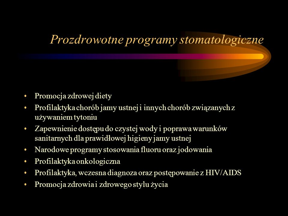 Prozdrowotne programy stomatologiczne