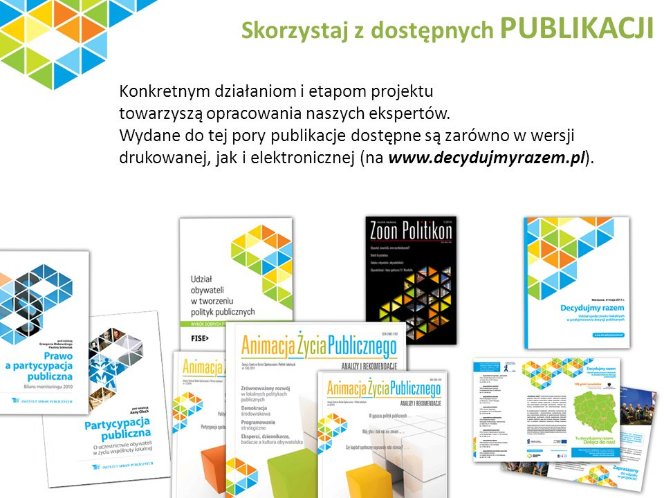 Skorzystaj z dostępnych PUBLIKACJI