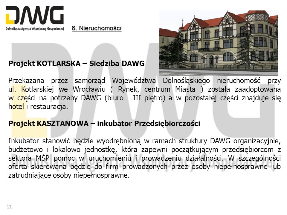 Projekt KOTLARSKA – Siedziba DAWG