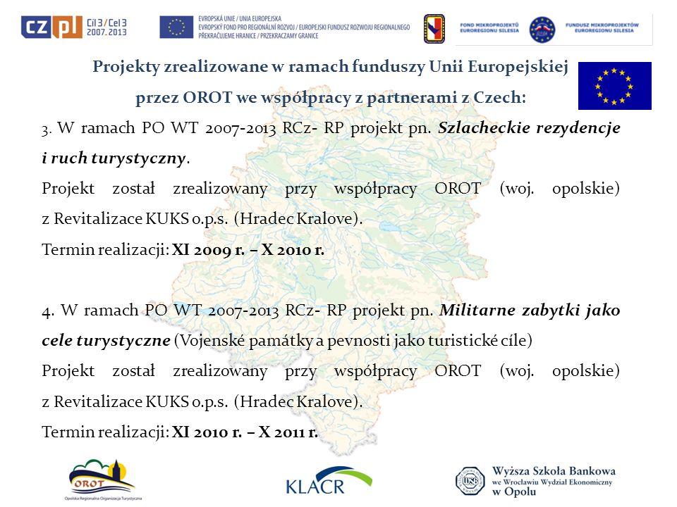 Projekty zrealizowane w ramach funduszy Unii Europejskiej