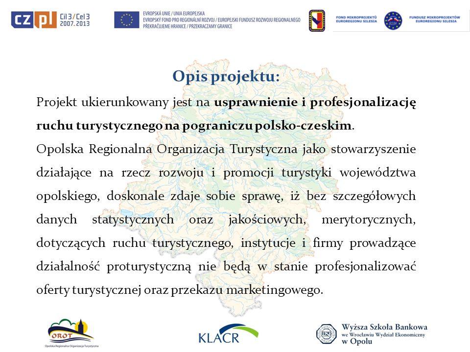 Opis projektu: Projekt ukierunkowany jest na usprawnienie i profesjonalizację ruchu turystycznego na pograniczu polsko-czeskim.