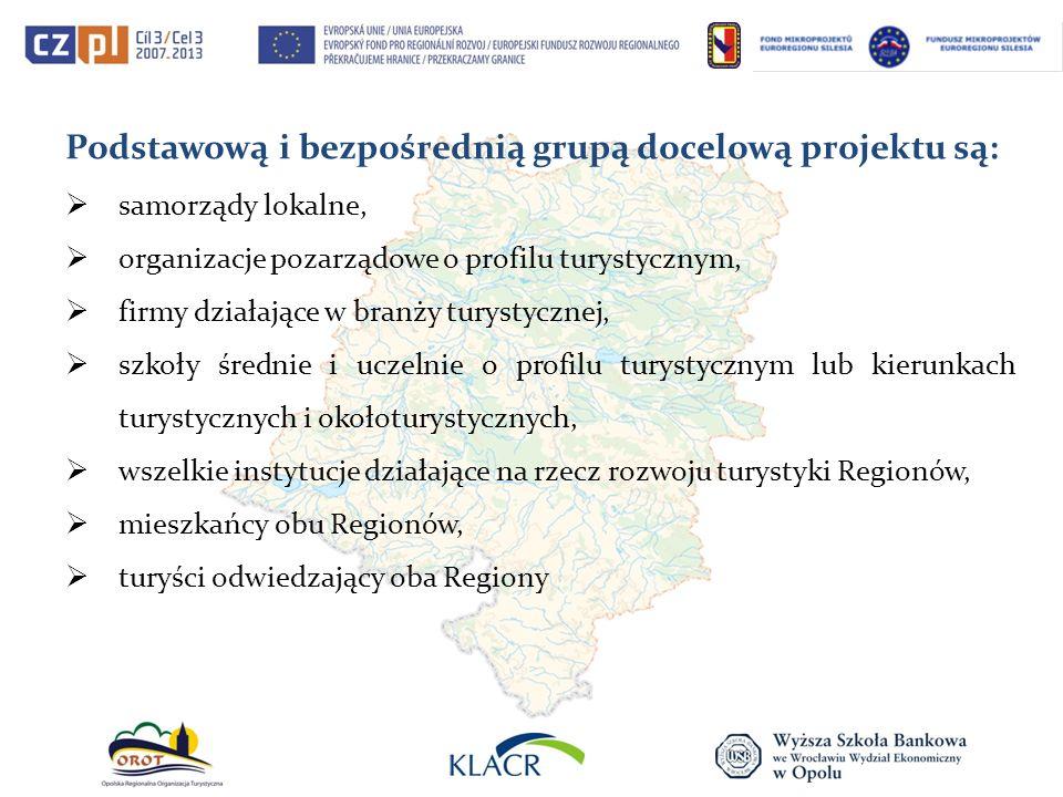Podstawową i bezpośrednią grupą docelową projektu są: