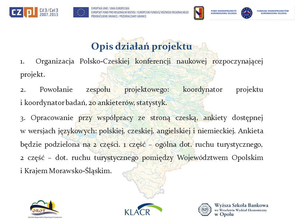 Opis działań projektu 1. Organizacja Polsko-Czeskiej konferencji naukowej rozpoczynającej projekt.