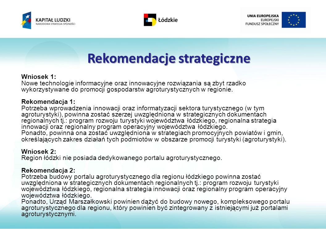 Rekomendacje strategiczne