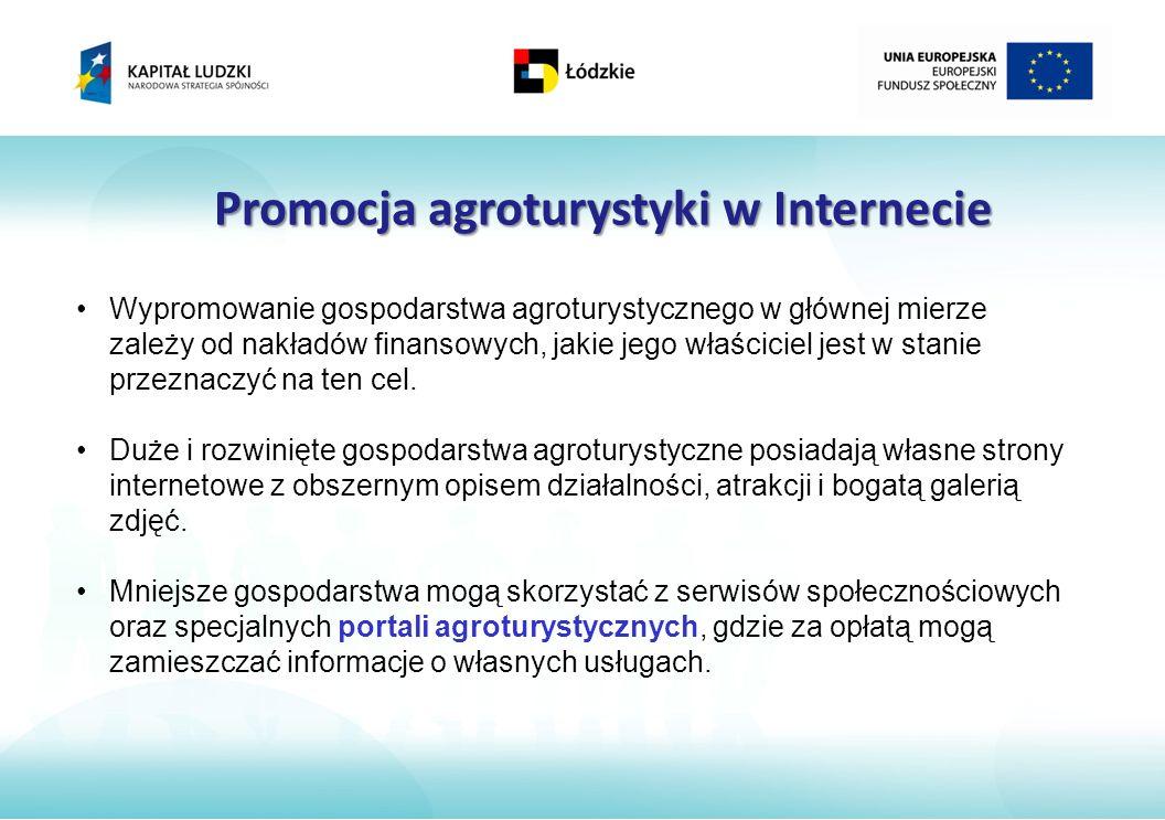 Promocja agroturystyki w Internecie