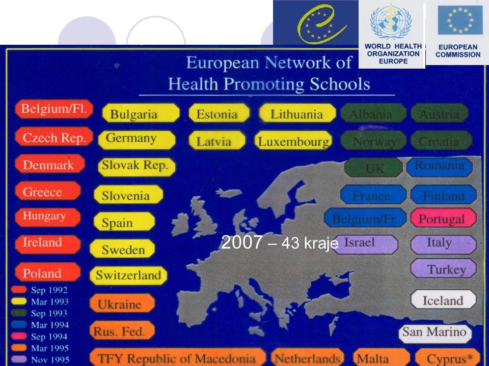 2007 – 43 kraje Centrum Metodyczne Pomocy Psychologiczno-Pedagogicznej