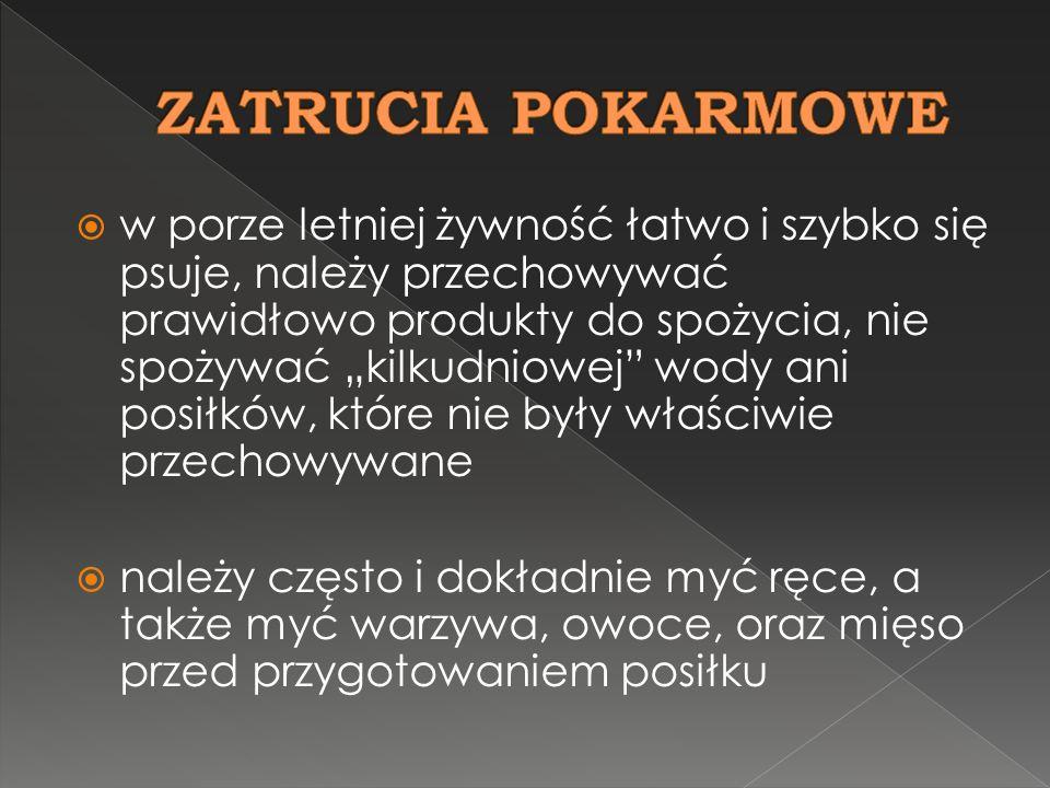 ZATRUCIA POKARMOWE