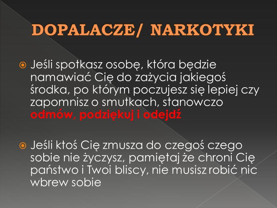 DOPALACZE/ NARKOTYKI