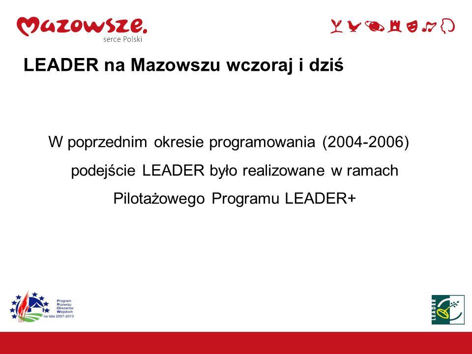 LEADER na Mazowszu wczoraj i dziś