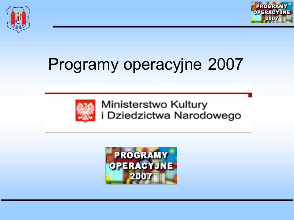 Programy operacyjne 2007