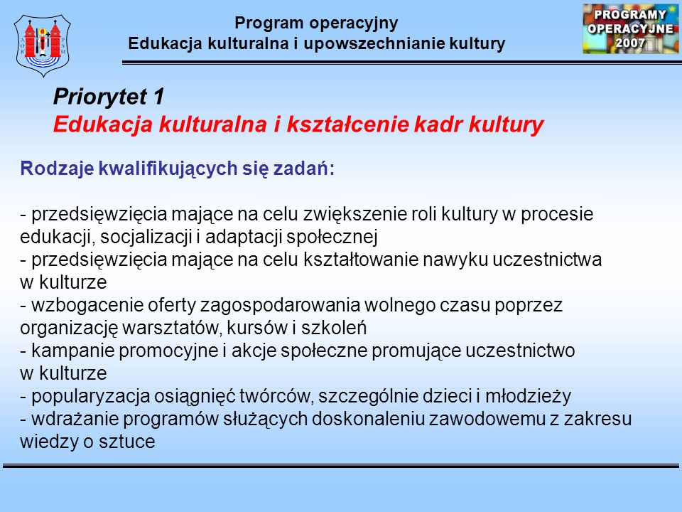 Edukacja kulturalna i upowszechnianie kultury