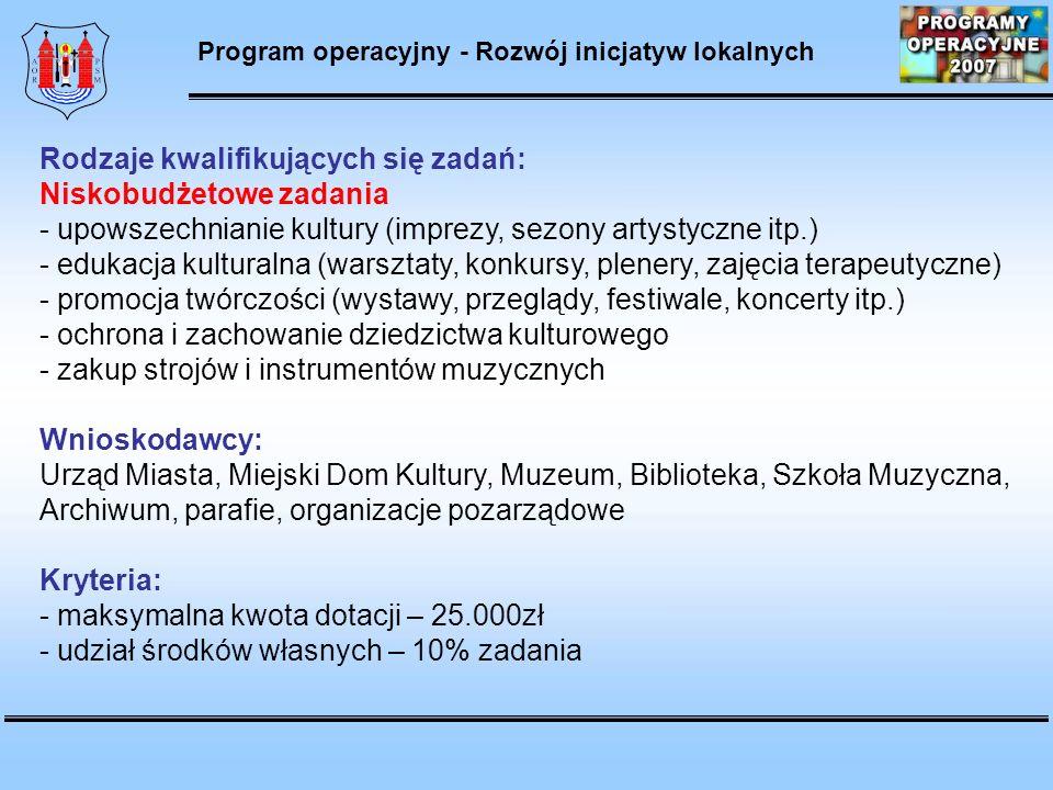 Program operacyjny - Rozwój inicjatyw lokalnych