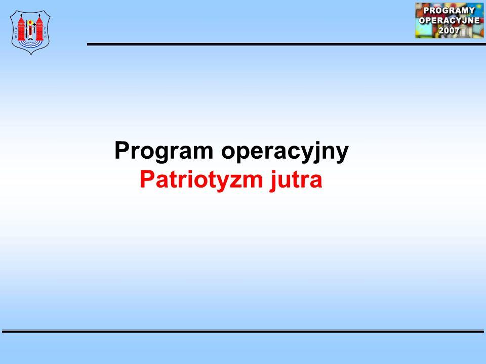 Program operacyjny Patriotyzm jutra