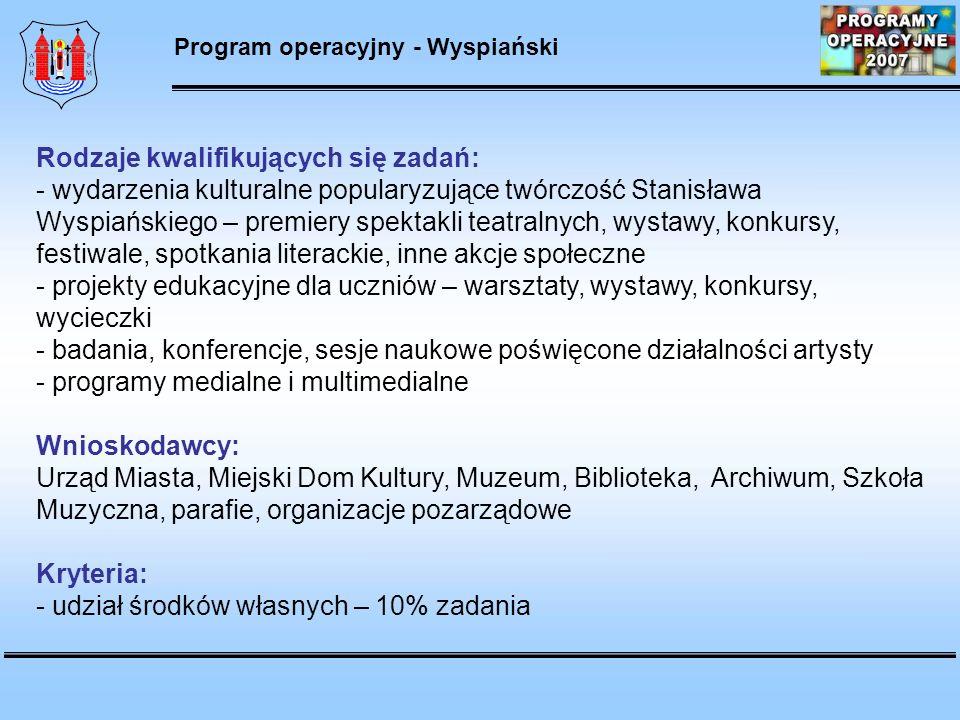 Program operacyjny - Wyspiański