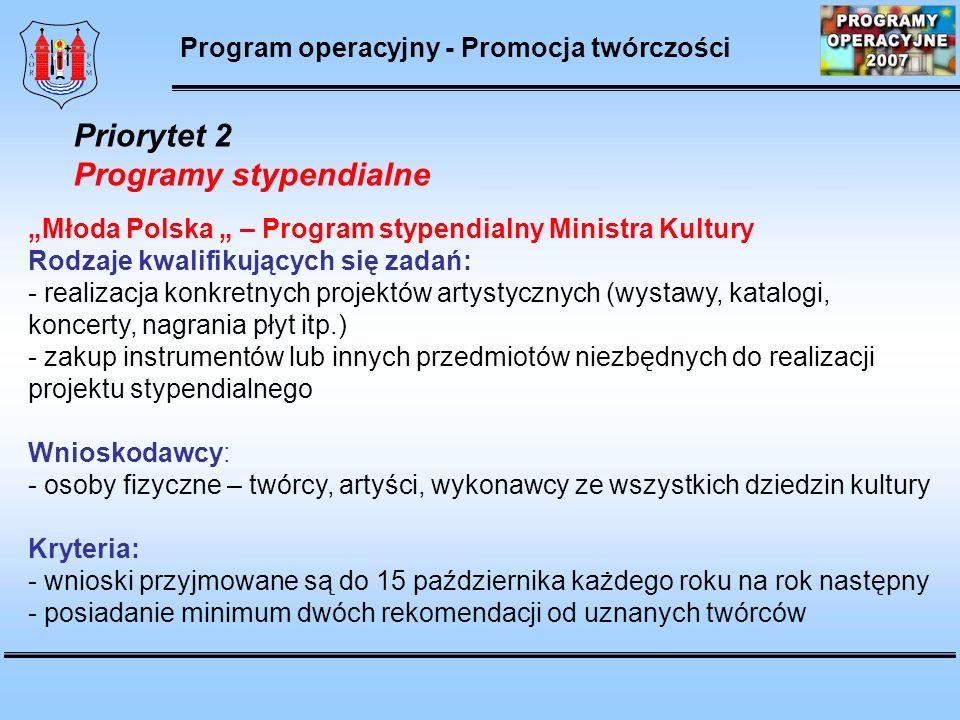 Programy stypendialne