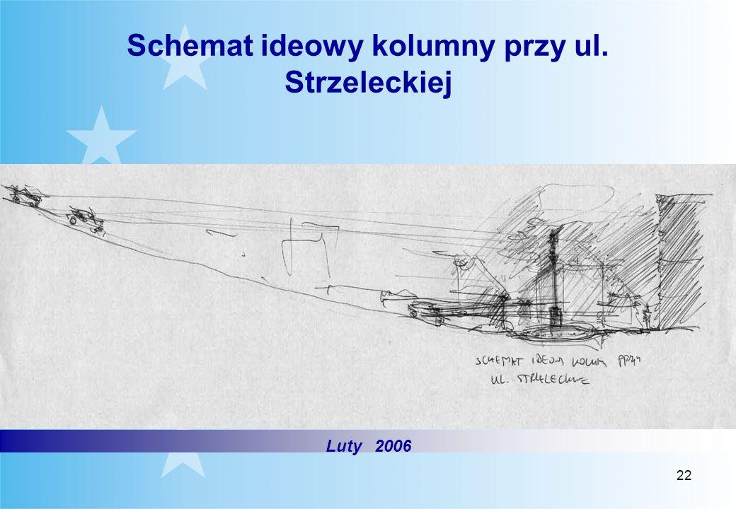 Schemat ideowy kolumny przy ul. Strzeleckiej