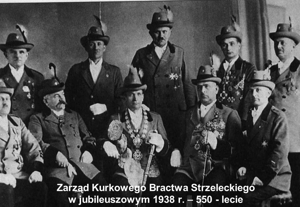 Zarząd Kurkowego Bractwa Strzeleckiego w jubileuszowym 1938 r