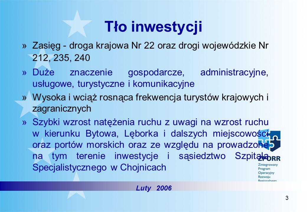 Tło inwestycji Zasięg - droga krajowa Nr 22 oraz drogi wojewódzkie Nr 212, 235, 240.