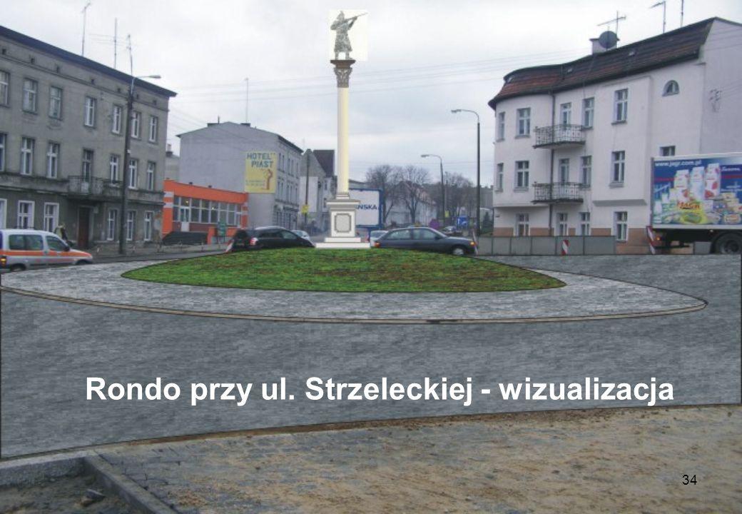 Rondo przy ul. Strzeleckiej - wizualizacja