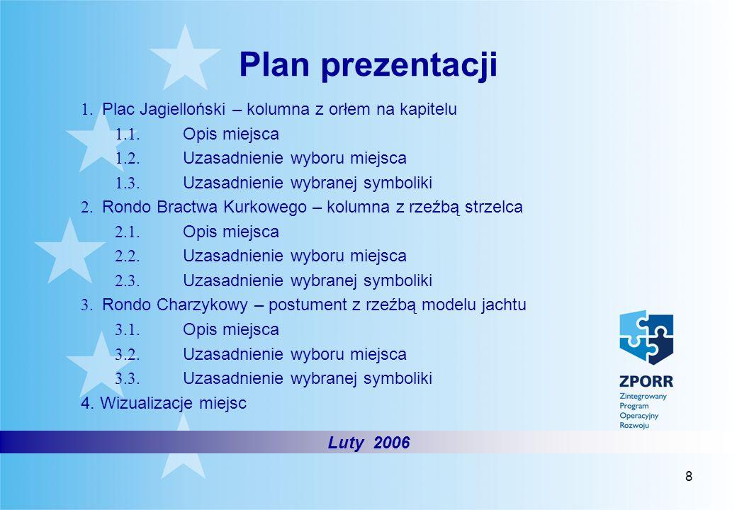 Plan prezentacji 1. Plac Jagielloński – kolumna z orłem na kapitelu