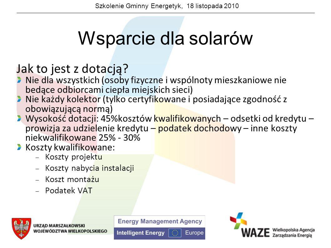 Wsparcie dla solarów Jak to jest z dotacją