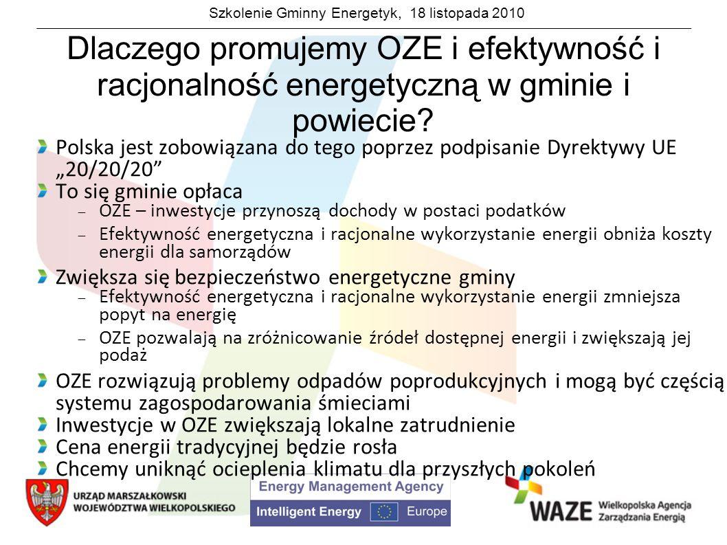 Dlaczego promujemy OZE i efektywność i racjonalność energetyczną w gminie i powiecie