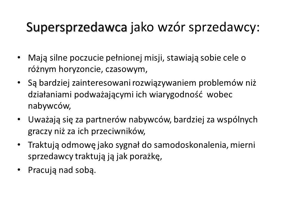 Supersprzedawca jako wzór sprzedawcy: